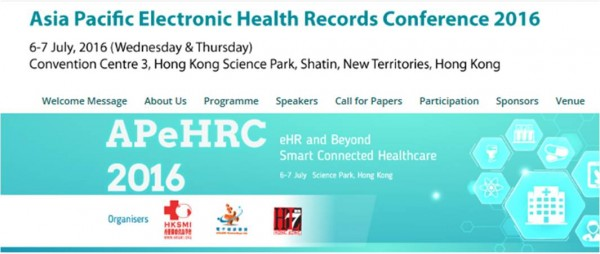 Asia Pacific Electronic Health Records Conference 2016